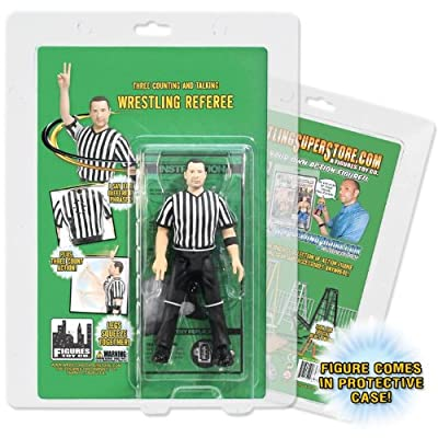 Three Counting and Talking Wrestling Referee Action Figure from Figures Toy Company