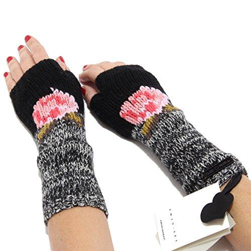 5287M guanti manicotti donna TWIN-SET SLIM FIT lana women gloves [L]
