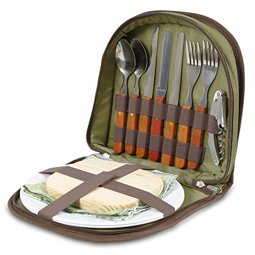 Buy Cheap Bright Outdoors Picnic Set for 2 - Compact wallet to fit basket or bag. With board, opener...