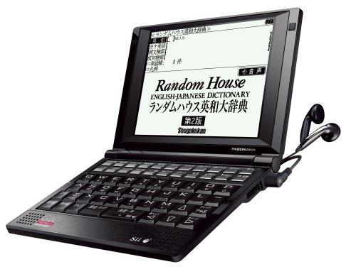 SII 電子辞書 PASORAMA 英語モデル SR-G10001 英和大辞典X6冊 英英辞典X11冊