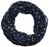 Anker Marine Damen Loop Schal aus hochwertiger Seide & Baumwolle