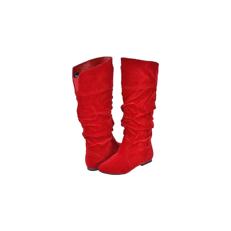 7ddec900651 Qupid Neo 144 Red Velvet Women Casual Boots