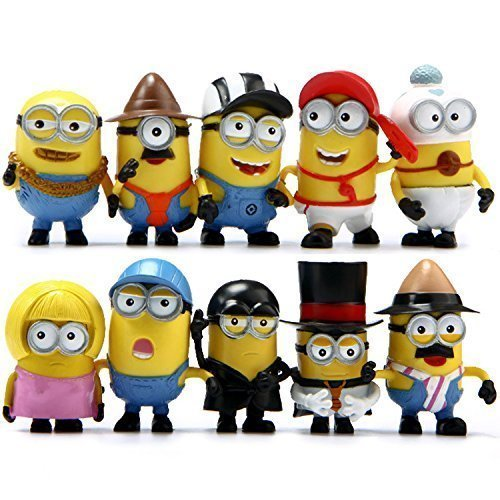 Despicable Me 2 The Minions Role Figure Display Toy PVC Set Yellow