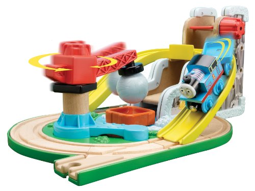 51uTiEeQErL Buy  Thomas And Friends Wooden Railway   Early Engineers Rock N Roll Quarry Set