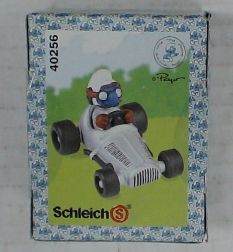 Buy Low Price Schleich The Smurfs Smurf in Silver Car Mib Figure (B00361J23G)