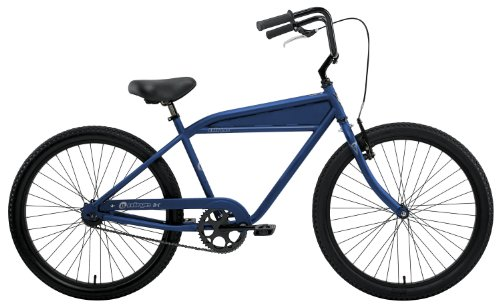 Nirve Men's B-1 1-Speed Cruiser Bike (Matte Blue, 18-Inch Frame-26-Inch Wheels)