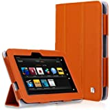 CaseCrown Bold Trifold Case (Orange) for Amazon Kindle Fire HD 8.9 Inch (Built-in magnet for sleep / wake feature)