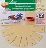 Clover 8422 2-Piece 4-3/8-Inch by 5-1/8-Inch by 1-5/8-Inch Basket Frames Small, Oval