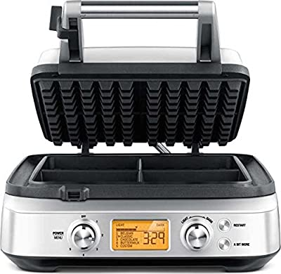 Breville Smart Waffle Pro Stainless Steel 4 Slice Waffle Maker by Breville