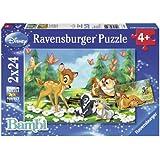 Ravensburger 08852 - DAF Mein Freund Bambi - 2 x 24 Teile Puzzle