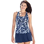Swim 365 Plus Size Swimsuit, Tankini Style With Empire Top And Ruffles