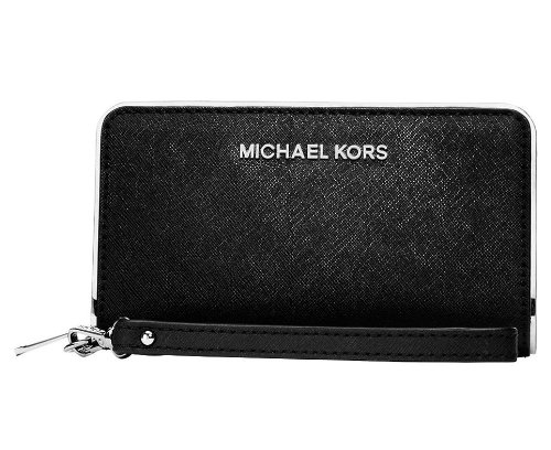 Michael Michael Kors Large Travel Specchio Wallet In Black