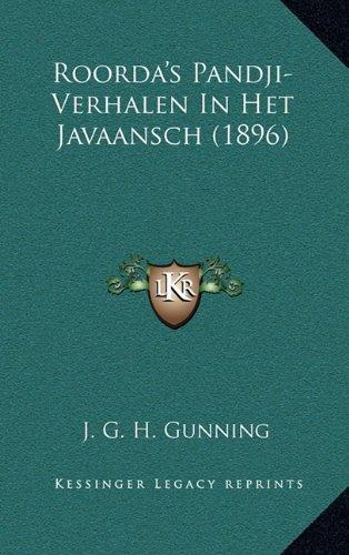 Roorda's Pandji-Verhalen in Het Javaansch (1896)