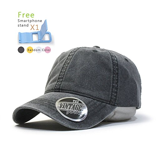 Plain Washed Dyed Cotton Twill Low Profile Adjustable Baseball Cap (Charcoal Gray) (Low Profile Trucker Cap compare prices)