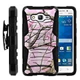 Galaxy Grand Prime Case, Galaxy Grand Prime Holster, Two Layer Hybrid Armor Hard Cover with Built in Kickstand