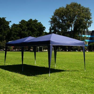 10 x 20 EZ POP UP BLUE Canopy New Gazebo NO Sidewalls