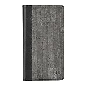 Jo Jo Cover Bark Series Leather Pouch Flip Case For Intex Cloud M6 Grey