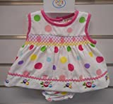 Premature Baby Dress Set With Embroidery 62cm