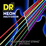 DR Strings NMCE-10 DR NEON Electric Strings, Medium, Multi-Color