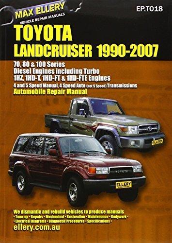 Toyota Landcruiser 1990-2007 Automobile Repair Manual: Diesel Engines including Turbo by Max Ellery (2003-05-01) (Toyota Landcruiser Repair Manual compare prices)