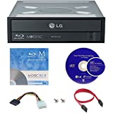 LG WH16NS40 16X Super Multi M-Disc Blu-ray BDXL CD DVD Internal Burner Writer Drive + FREE 1pk Mdisc BD + Cyberlink Software + Cables & Mounting Screws
