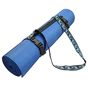 YogaAccessories (TM) Embroidered Yoga Pilates Mat Sling Strap