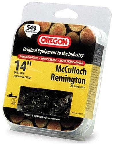 Oregon 14-Inch Semi Chisel Chain Saw Chain Fits McCulloch, Remington S49
