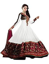 White World Women's Georgette Salwar Suit (Sainx White_White_Freesize )