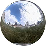Lily's Home® Gazing Globe Mirror Ball in Silver Stainless Steel - 10 Inch