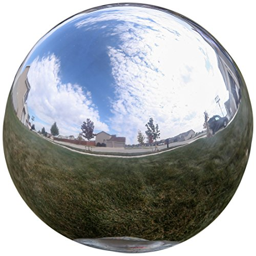 Best Gifts for Garden Lovers - Lily's Home® Gazing Globe Mirror Ball in Silver Stainless Steel - 10 Inch