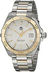 TAG Heuer Men's WAY1151.BD0912 Aquaracr Analog Display Swiss Quartz Two Tone Watch
