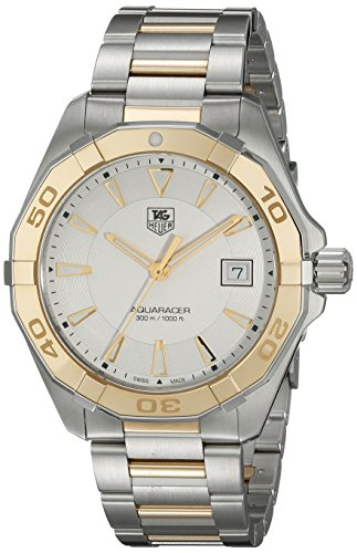 TAG-Heuer-Mens-WAY1151BD0912-Aquaracr-Analog-Display-Swiss-Quartz-Two-Tone-Watch