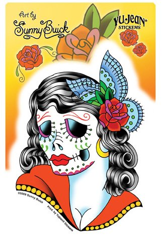 sunny-buick-lady-skull-day-of-the-dead-sticker-3-1-2-w-x-5-h-weather-resistant-long-lasting-for-any-