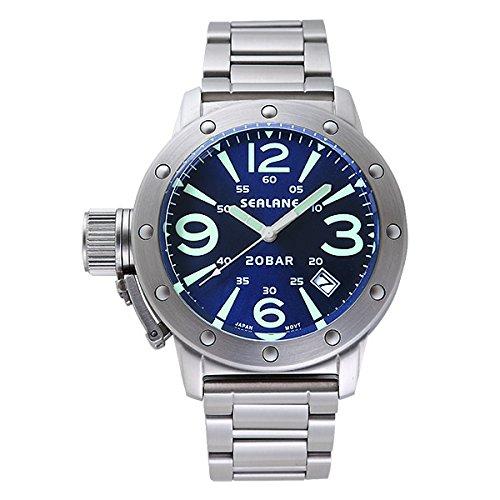 [シーレーン]SEALANE 腕時計 20BAR N夜光 SE32-MBL メンズ
