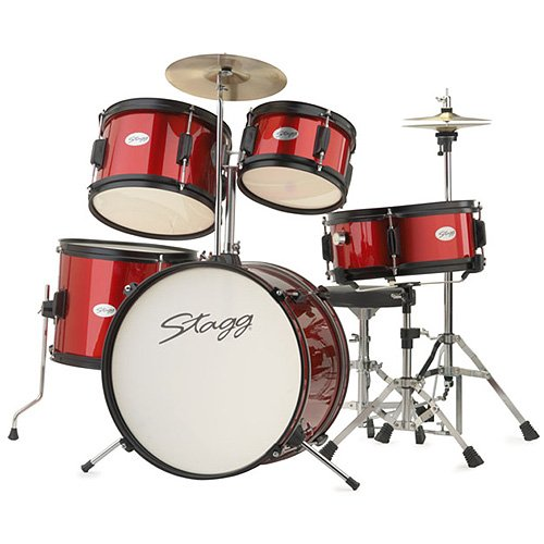stagg-tim-jr-5-16-rd-5-piece-junior-drum-kit-red