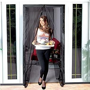 Zanzariera con velcro per porte a strisce magnetiche maurer 120x240 cm fai da te - Amazon zanzariere per finestre ...