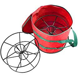 Elf Stor Premium Christmas Light Storage Bag and Reels Holds Two 100 ft. Strands