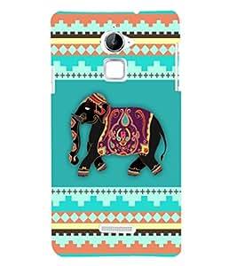 Fuson Premium Elephant Art Printed Hard Plastic Back Case Cover for Coolpad Note 3 Lite