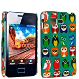 MULTI COLOR BIRDS PRINT ON GREEN HARD BACK PROTECTION CASE COVER FOR SAMSUNG STAR 3 DUOS S5220 S5222