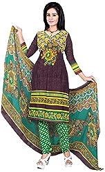 Manmauj Women's Cotton Unstitched Dress Material (MM10067DLKD, Beige)