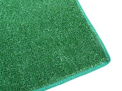 Artificial Grass Turf Carpet Indoor / Outdoor Area Rug. Premium Nylon Fabric FINISHED EDGES .UV-Protected - weather and Fade-resistant ,100% UV olefin. Light Weight Marine Backing. MANY SIZES and Shapes. Rectangles, Squares, Circles, Half Rounds, Ovals, a