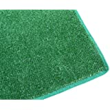 """8'X10' - GREEN 1/4"""" Thick - 8 oz. Artificial Grass Turf Carpet Indoor / Outdoor Area Rug. Premium Nylon Fabric FINISHED EDGES .UV-Protected - weather and Fade-resistant ,100% UV olefin. Light Weight Marine Backing. MANY SIZES and Shapes. Rectangles, Squares, Circles, Half Rounds, Ovals, and Runners."""