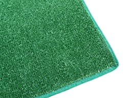 2.5\' x 12\' RUNNER - GREEN Artificial Grass Turf Carpet Indoor / Outdoor Area Rug. Premium Nylon Fabric FINISHED EDGES .UV-Protected - weather and Fade-resistant ,100% UV olefin. Light Weight Marine Backing. MANY SIZES and Shapes. Rectangles, Squares, Circ