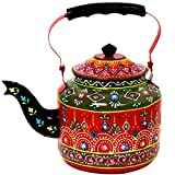 Purpledip Handpainted Decorative Kettle (Multicolor)