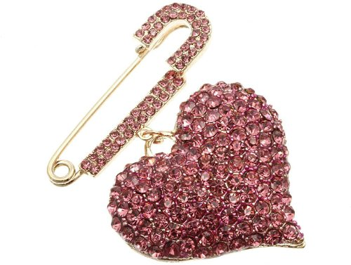 PIN AND BROOCH PIN METAL PINK Fashion Jewelry Costume Jewelry fashion accessory Beautiful Charms
