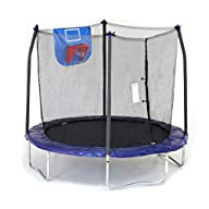 Skywalker Trampolines Jump N' Dunk Trampoline with Safety Enclosure and Basketball Hoop, 8-Feet