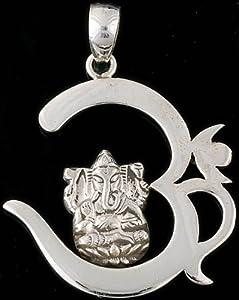 Om (AUM) Ganesha Pendant - Sterling Silver