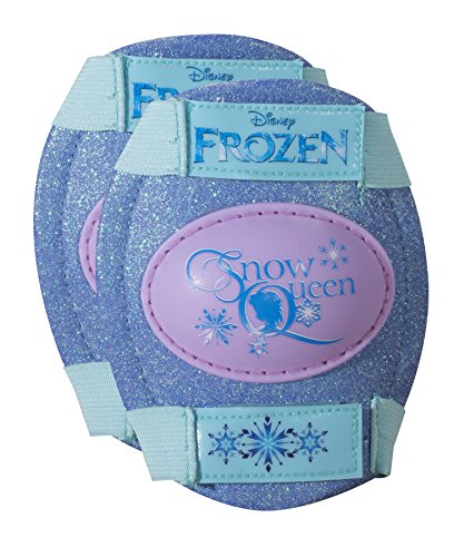 Fantastic Deal! Disney Frozen Kids Glitter Rollerskate, Junior Size 6-12 with Knee Pads