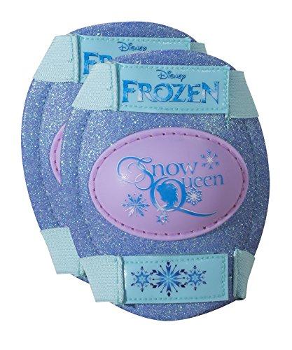 Fantastic Deal! Disney Frozen Kids Glitter Rollerskate, Junior Size 6-12 with Knee Pads