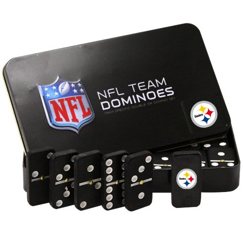 NFL Pittsburgh Steelers Domino Set in Metal Gift Tin at Amazon.com